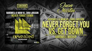 Never Forget You vs. Get Down (Hardwell Mashup)