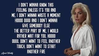 Lady Gaga   I'll Never Love Again (Lyrics)