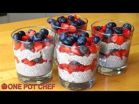 Video Chia Seed Mixed Berry Puddings | One Pot Chef