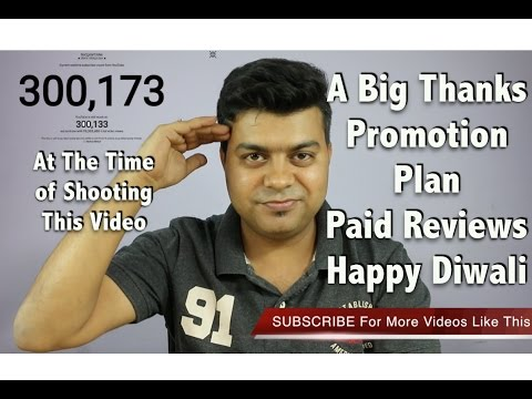 A Big Thanks, Happy Diwali, Promotion For All, Paid Reviews, Giveaways | Gadgets To Use