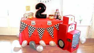 Cars Themed Birthday Party : Liam 2 Years Old