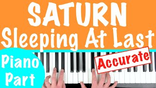 How To Play 'SATURN' By Sleeping At Last | Piano Chords Tutorial