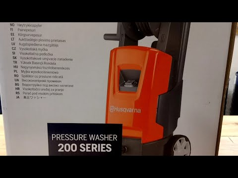Pressure Washer Husqvarna PW 235 R NOVELTY!UNBOXING!