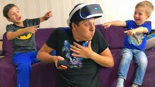 ЧТО МОЖЕТ Быть От Виртуальной Реальности? Папе СТАЛО Плохо! Для Детей Kids Children