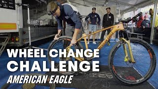 MTB American Eagle Team Does The Wheel Change Challenge   Red Bull Bike Challenges