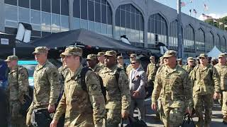 ARMY football Team Arrives at Michie Stadium for Rice Game