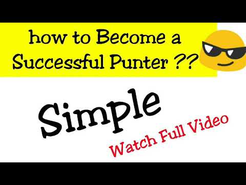 how to Become a Successful Punter ??