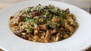 מתכון לריזוטו  אורז ארבוריו פטריות