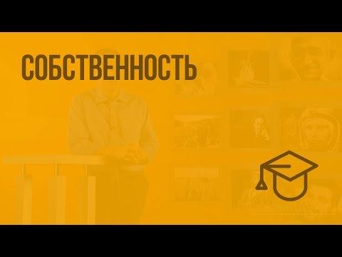 Собственность. Видеоурок по обществознанию 8 класс