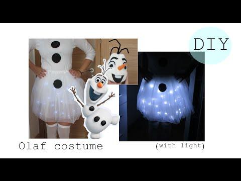 🎭DIY- Olaf costume with light- easy halloween costume- Disfraz fácil y original  |  Nerea Iglesias