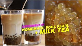 Pyan's Homemade Boba Pearl + Milk Tea   Experiment 10 (ENG SUBS)