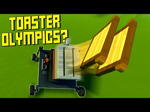 EXTREME Toaster Olympics Competition Challenge Event Trial! - Scrap Mechanic Multiplayer Monday