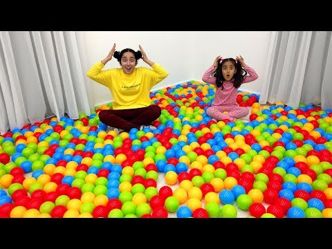 Kids are playing with colorful balls