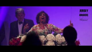 Dame Shirley Bassey at the Jersey Style Awards in association with Chopard