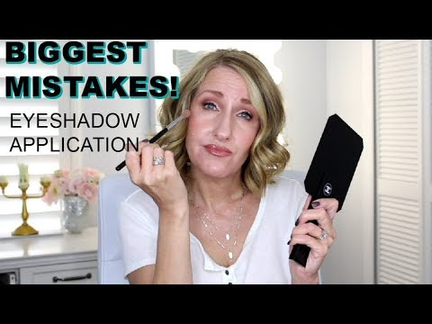 MAKEUP FOR MATURE WOMEN APPLYING EYESHADOW TO DROOPY HOODED AGING EYES PART 3