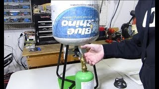 Refill 1lb propane tanks the easy, safe and legal way!!