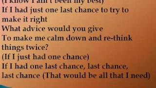 Abk - One Last Chance Lyrics