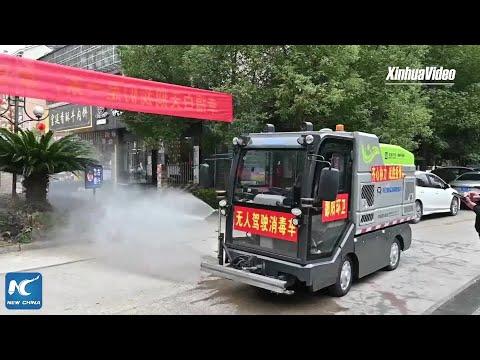 Autonominis sunkvežimis padeda kinams kovoti su koronavirusu