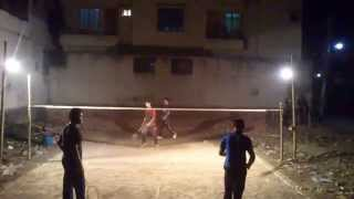preview picture of video 'Badminton at Bangladesh, Dhaka, Banasree (January 23, 2015) 02'