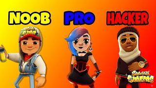SUBWAY SURFERS - NOOB VS PRO VS HACKER