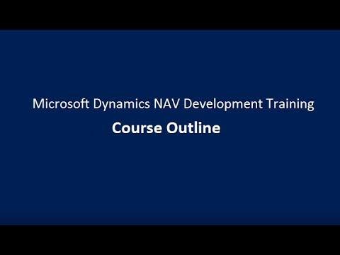Microsoft Dynamics NAV Development Training | Course Outline
