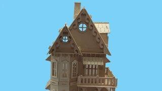 DIY Miniature Gothic House ~ Woodcraft Construction Kit