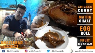 Old Ghaziabad Night Food Tour I Special Matara Fruit Chaat + Dark Dhaba Chicken Curry I Part 3