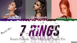 Ariana Grande   7 Rings Feat. Nicki Minaj & JENNIE LyricsLirik Terjemahan Indonesia (Remix Version)