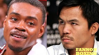 MANNY PACQUIAO RESPONDS TO ERROL SPENCE JR., MEAN MUGS SPENCE FOR SAYING MANNY DIDNT WANT TO FIGHT!