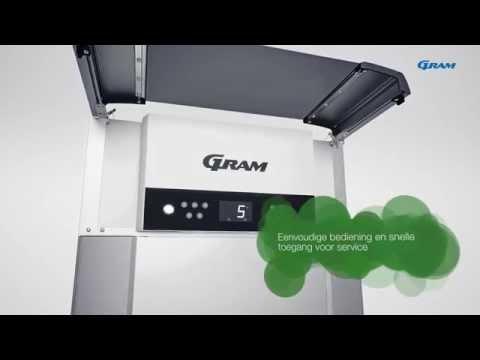 Gram ECO PLUS KG 70 glasdeur koelkast - 2/1 GN - Vario Silver