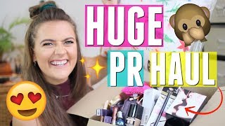 HUGE PR/ Blogger mail unboxing haul | NARS, Tarte, SmartBuyGlasses, OhhDeer & more | EmmasRectangle