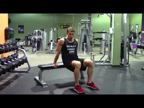 Bench Dips with Knees Bent - HASfit Triceps Exercise Demonstration - Tricep Exercises