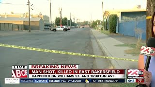 Shooting in East Bakersfield on East Truxtn and Wiliams