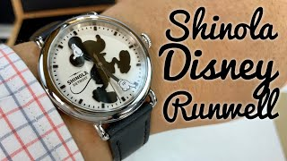 Shinola Disney Silhouette Mickey Mouse Runwell Watch Review
