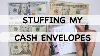 STUFFING MY CASH ENVELOPES August Paycheck #1 | Dave Ramsey Budget | Erin Condren Monthly Deluxe