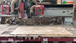 MÁY CNC TRUNG TÂM 3 Trục 2 Bàn Woodmaster Thay dao tự động cắt chống mo