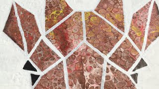 How To Paint Geometrical Giraffe Animal - African Style Inspired Acrylic Pour, Day In Zoo