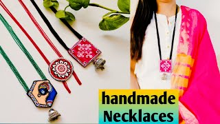3 Stylish Handmade Necklaces Using Clay / DIY Statement Necklaces.