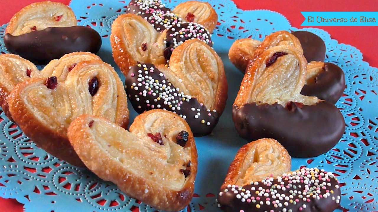 Postres para San Valentín, Corazones de Hojaldre y Chocolate, Regalos para San Valentín