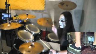Gambar cover Slipknot - Psychosocial Drum Cover with Joey Jordison Mask drum play-through