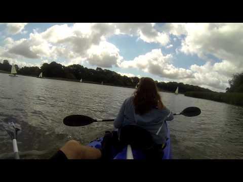 Kayaking up the River Hamble, Southampton.