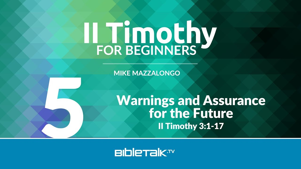 5. Warnings and Assurance for the Future