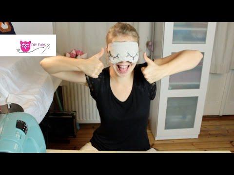Schlafmaske nähen - DIY Eule
