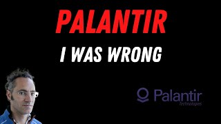 PALANTIR STOCK UPDATE (I WAS WRONG ABOUT PLTR STOCK TODAY)