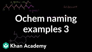 Organic Chemistry Naming Examples 3
