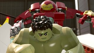 LEGO Marvel's Avengers Walkthrough Part 9 - Anger Management (Hulk Vs. Hulkbuster Fight)