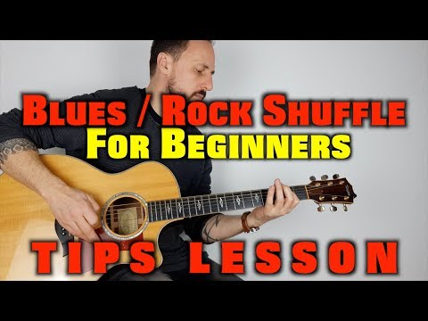 Blues Rock Shuffle guitar lesson for beginners