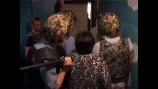 Задержание психа полицией в Киреевске