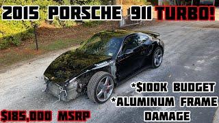 $100,000 Budget Wrecked 2015 Porsche 911 Turbo Rebuild