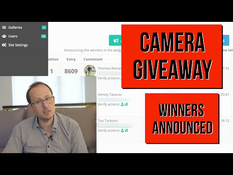Camera Giveaway - Winners announced!